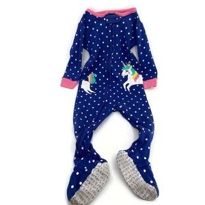 Carters Baby Girl Unicorn Pajamas Polka Dot Footie
